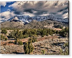 Acrylic Print featuring the photograph Sandia Mountain Landscape by Alan Toepfer