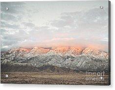 Sandia Mountains Rustic Sunset Landscape Acrylic Print by Andrea Hazel Ihlefeld