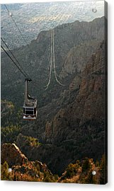 Sandia Peak Cable Car Acrylic Print by Joe Kozlowski
