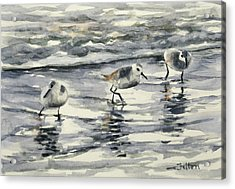 Sandpipers 3  12-11-17 Acrylic Print