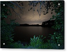 Acrylic Print featuring the photograph Sandra Pond At Night 2 by Brian Hale