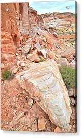 Acrylic Print featuring the photograph Sandstone Arrowhead In Valley Of Fire by Ray Mathis