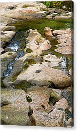 Acrylic Print featuring the photograph Sandstone Creek Bed by Sharon Talson
