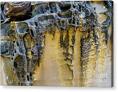 Acrylic Print featuring the photograph Sandstone Detail Syd01 by Werner Padarin