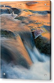 Sandstone Reflections Acrylic Print by Mike  Dawson