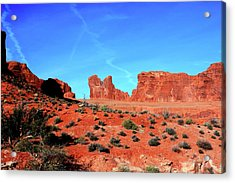 Acrylic Print featuring the photograph Sandstone Road by Edward R Wisell