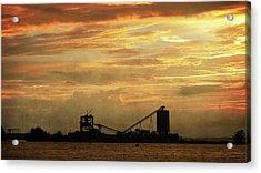 Sandusky Coal Dock Sunset Acrylic Print