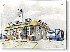Sandwich Shop Acrylic Print by Ashley Lathe