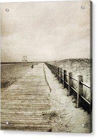 Sandy Beach Pathway - Milford Ct. Acrylic Print by Joann Vitali