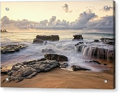 Sandy Beach Sunrise 3 - Oahu Hawaii Acrylic Print by Brian Harig