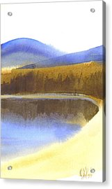 Acrylic Print featuring the painting Sandy Blue Dusky Mountain Lake by Kip DeVore