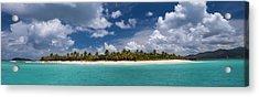 Acrylic Print featuring the photograph Sandy Cay Beach British Virgin Islands Panoramic by Adam Romanowicz