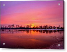 Sandy Chute Sunset Acrylic Print