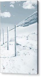 Acrylic Print featuring the photograph Sandy Dunes. Series Ethereal Blue by Jenny Rainbow