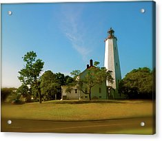 Acrylic Print featuring the photograph Sandy Hook Lighthouse by Iconic Images Art Gallery David Pucciarelli