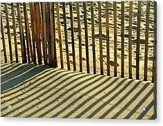 Sandy Pinstripes Acrylic Print by JAMART Photography