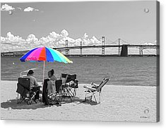Sandy Pt St Pk Beach - Color Select Acrylic Print