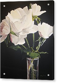 Acrylic Print featuring the painting Sandys Roses by Betty-Anne McDonald