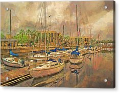 Acrylic Print featuring the photograph Sanford Sailboats by Lewis Mann