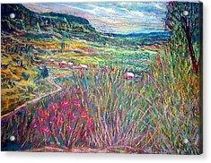 Sangre De Christo Mountain Mora Valley Acrylic Print by Richalyn Marquez