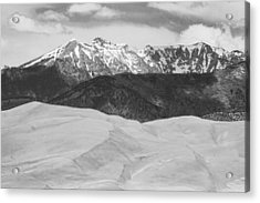 Sangre De Cristo Mountains And The Great Sand Dunes Bw Acrylic Print by James BO  Insogna