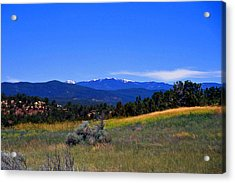 Sangre De Cristos Mountains New Mexico Acrylic Print by Randy Muir