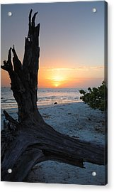 Sanibel Sunrise II Acrylic Print by Steven Ainsworth