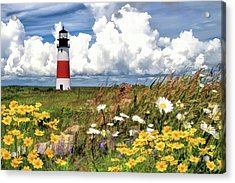 Acrylic Print featuring the painting Sankaty Head Lighthouse by Christopher Arndt