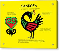 Sankofa Knowledge Acrylic Print