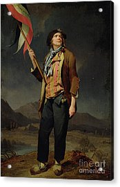 Sans Culotte Acrylic Print by Louis Leopold Boilly