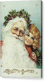 Santa And His Little Admirer Acrylic Print