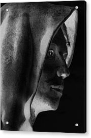 Santa Angela  Acrylic Print by Louis Nugent