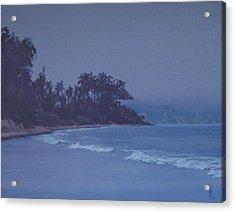 Santa Barbara Beach At Twilight Acrylic Print by Philip Fleischer