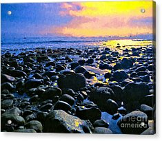 Santa Barbara Beach Sunset California Acrylic Print