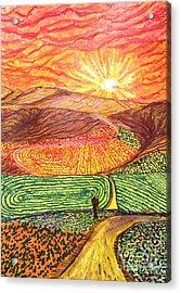 Santa Barbara County Color Splash  Acrylic Print