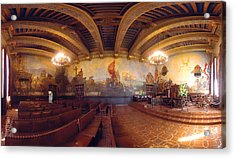 Santa Barbara Court House Mural Room Photograph Acrylic Print by Brian Lockett