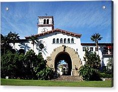 Santa Barbara Courthouse -by Linda Woods Acrylic Print by Linda Woods