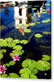 Santa Barbara Mission Fountain Acrylic Print