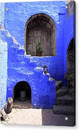 Acrylic Print featuring the photograph Santa Catalina Monastery, Arequipa, Peru by Aidan Moran