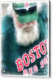 Santa Claus Spotted At Spring Training Acrylic Print by Edward Fielding