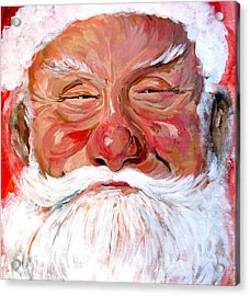 Santa Claus Acrylic Print by Tom Roderick