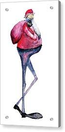 Santa Claus, Watercolor Illustration Acrylic Print