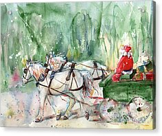 Santa Claus Is Coming To Town Acrylic Print