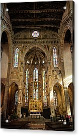Acrylic Print featuring the photograph Santa Croce Florence Italy by Joan Carroll