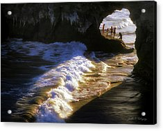 Santa Cruz 'bridge' California Coastline Acrylic Print by John A Rodriguez