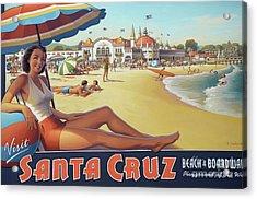 Santa Cruz For Youz Acrylic Print by Bob Christopher