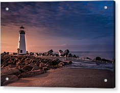 Santa Cruz Harbor Walton Lighthouse Acrylic Print by Ralph Vazquez