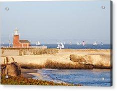 Santa Cruz Lighthouse Acrylic Print by Paul Topp