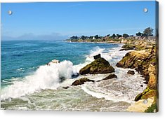 Santa Cruz Wave Spray Acrylic Print