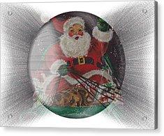 Santa Delivering Gifts Acrylic Print